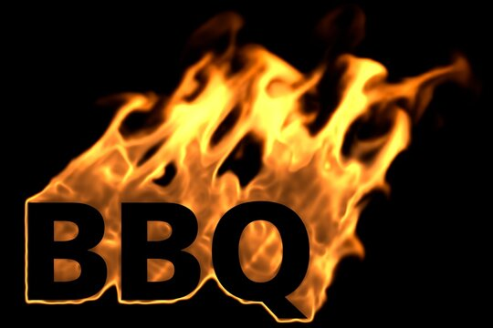 Barbecue als brennender Text