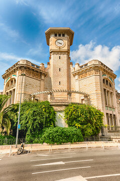 Lycee Massena, iconic building in Nice, Cote d'Azur, France