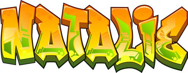 Fototapeta Natalie Graffiti Name Design obraz