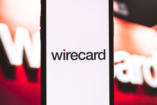 Smartphone with wirecard logo on the screen. Rostov-on-Don, Russia. 18 January 2020