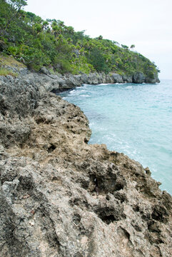 Jamaica's Bamboo Beach Rocky Coastline