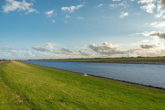 Landscape at the Husumer Au river by Husum