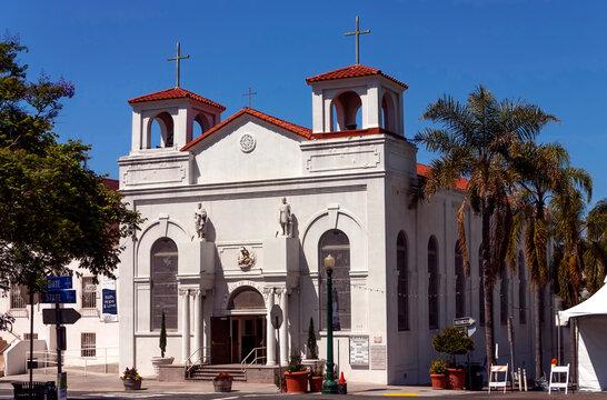 Catholic Church at Little Italy San Diego,California,United States of America.