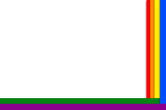 White background with rainbow color. The colors of the LGBT. Background for paper, print, and website.