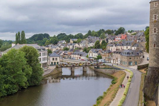Josselin, France. Scenic view from the castle wall