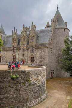 Josselin, France. Residential building and fortifications of a medieval castle