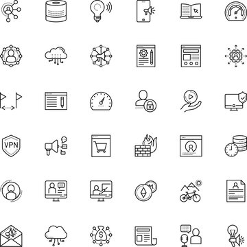 internet vector icon set such as: coin, bandwidth, microphone, teamwork, coaching, production, seminar, open source, label, point, screen, free, note, blogging, basket, add, resume, license, retail