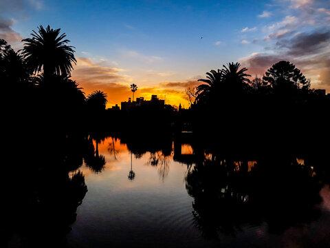 Rodo Park Sunset Scene, Montevideo, Uruguay
