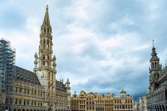 Grand Place square architecture, Brussels