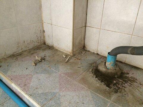 Bathroom Plumbing Drain System Under Renovation