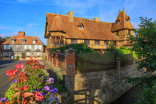 The village of Beuvron-en-auge, Normandy, France