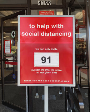 Social Distance Occupancy Store Limit Sign