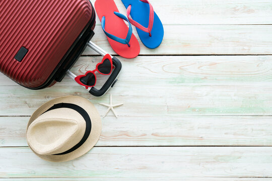 packing a luggage for a new journey and travel for a long weekend, tourist destination concept