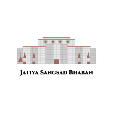 Jatiya Sangsad Bhaban or National Parliament House. It is the house of the Parliament of Bangladesh. The largest legislative complexes in the world. Impressive architectural building