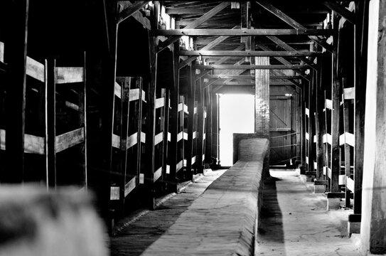 Empty Corridor Of Concentration Camp