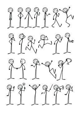 Happy Stickfigure Poses Pack - Male Edition
