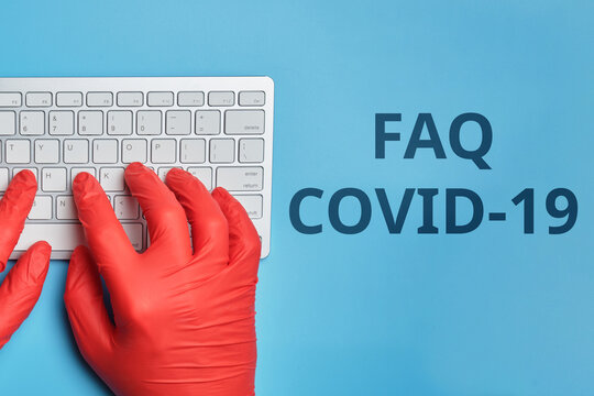Answers and questions concept FAQ COVID-19 in the Internet
