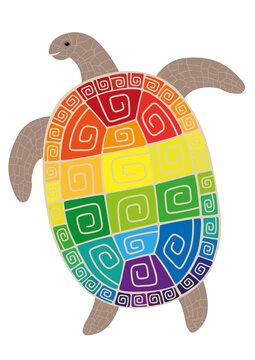 Happy turtle Endorphine is going to swim