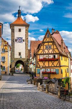 Medieval town of Rothenburg ob der Tauber, Germany