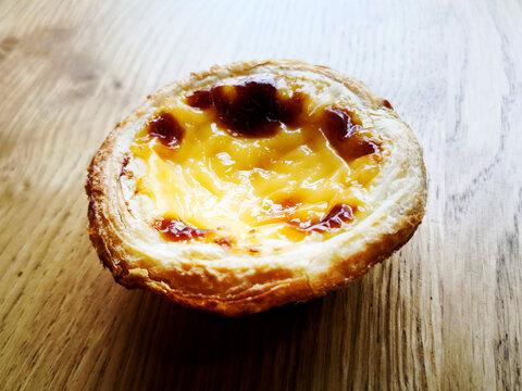 Delicious Portuguese egg tart dessert