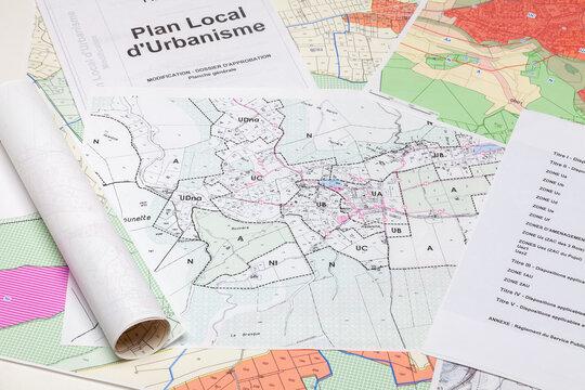 Opendata - Données publiques - Aménagement du territoire - carte des zonages de plan local d'urbanisme