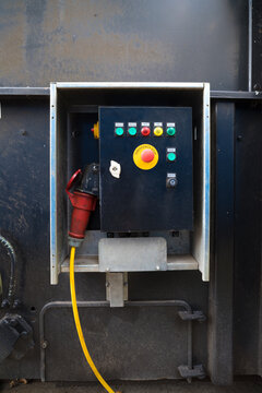 control box on a container