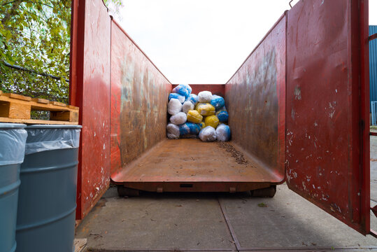container with waste