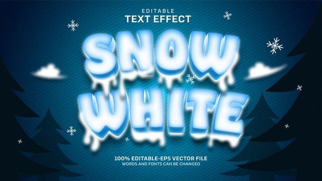 Snow White Text Effect