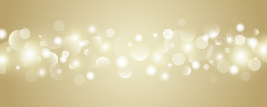 Abstract gold bokeh lights background vector illustration