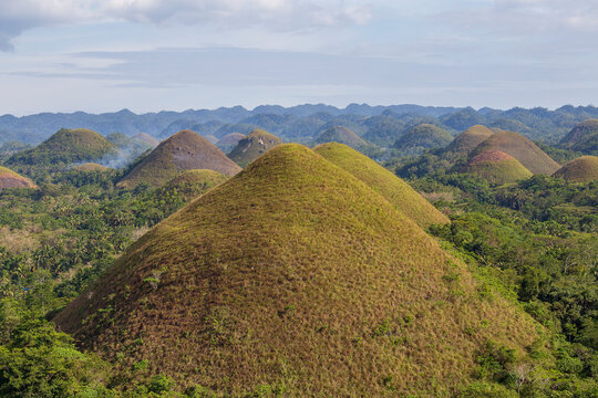 Chocolate Hills, a natural landmark of Philippines