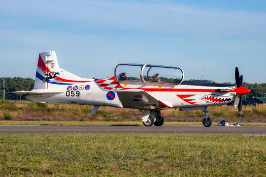 Croatian Air Force Pilatus PC-9 trainer aircraft.