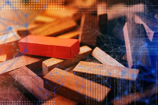 Digital Composite Image Of Toy Blocks