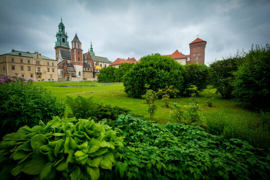 Wawel castle in Krakow in Poland