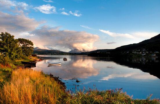 Europe, UK, Scotland, Isle of Skye Loch Portree