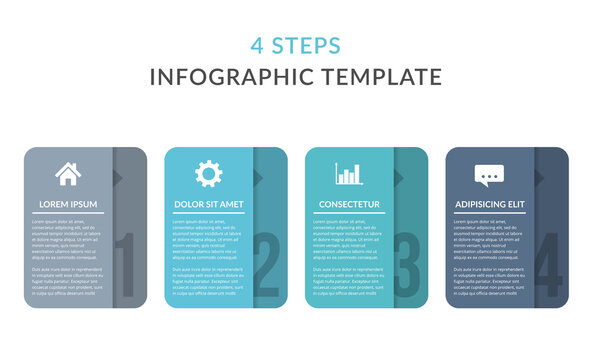 4 Steps - Infographic Template