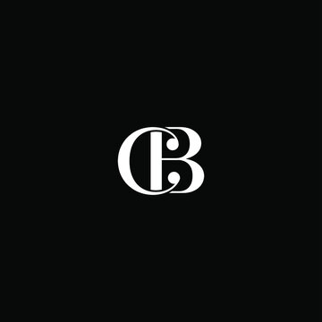C B letter logo abstract design on black color background, cb monogram