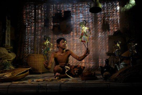 Culture, Playing, Wayang, Boy, Ancient, Happy, Activity , Java Culture
