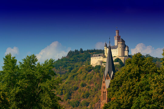 Rhine valley with various castles
