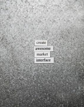 Market interface
