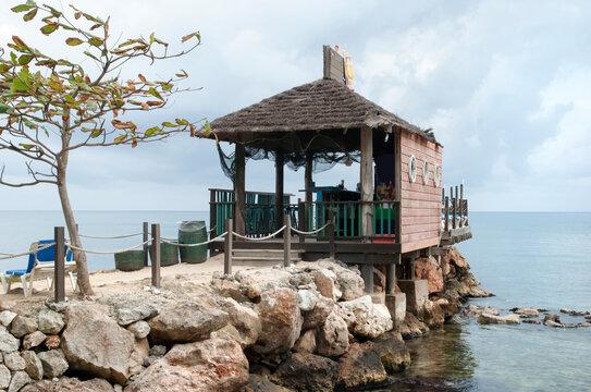 Jamaica's Ocho Rios Resort Town Beach Bar