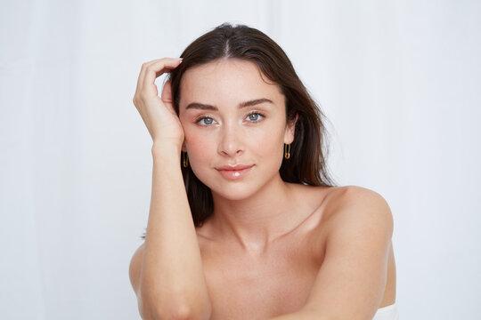 Confident woman beauty shot