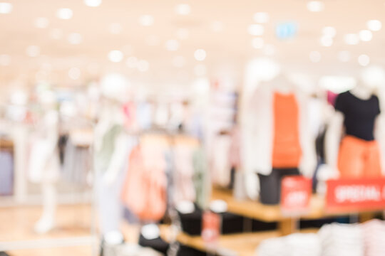 Defocused Image Of Clothing Store
