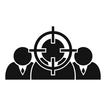 Workforce target icon. Simple illustration of workforce target vector icon for web design isolated on white background