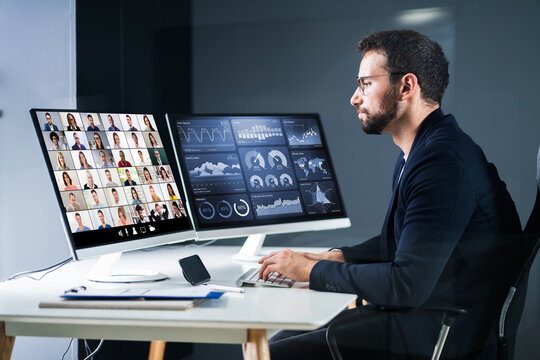 Online Video Conference Interview Meeting