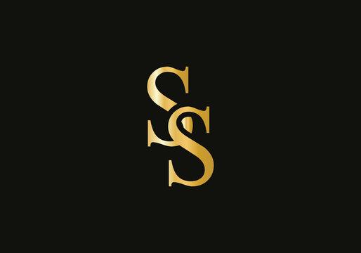 SS letter logo design. SS Logo for luxury branding. Elegant and stylish design for your company.