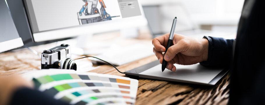 Graphic Artist Designer Drawing Sketch