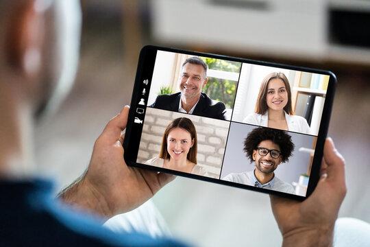 Video Conferencing Webinar Chat Or Videoconference