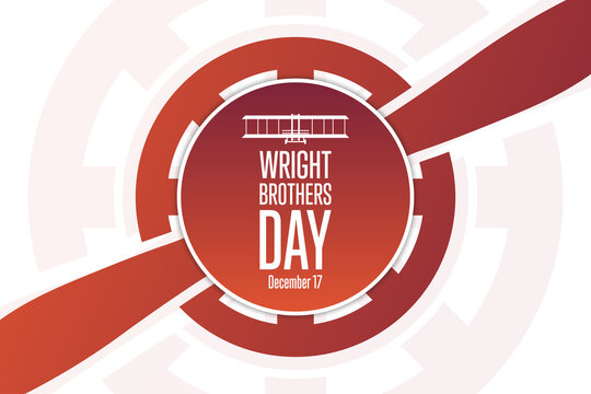 Wright Brothers Day. December 17. Holiday concept. Template for background, banner, card, poster with text inscription. Vector EPS10 illustration.