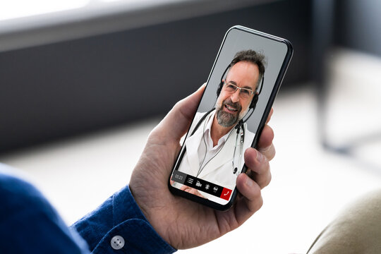 Medical Online Video Conference With Doctor
