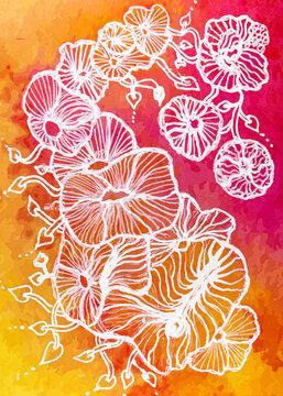Abstrakte Blumendarstellung